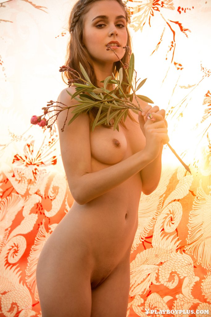 dazzling-natural-brunette-amberleigh-west-strips-and-poses-in-the-field-13